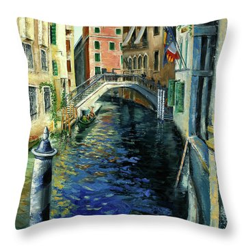 Perche Ero Li -because I Was There Throw Pillow