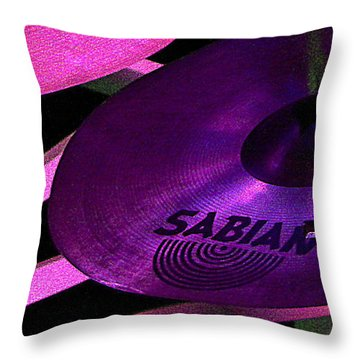Throw Pillow featuring the photograph Percussion by Lori Seaman