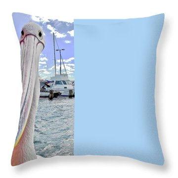 Percy The Pelican Throw Pillow