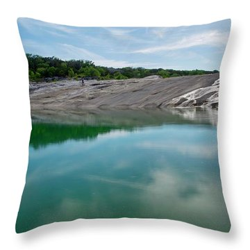 Perdernales Falls IIi Throw Pillow