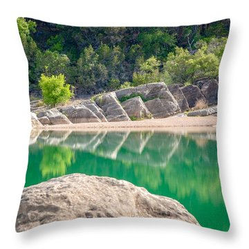 Perdernales Falls Throw Pillow
