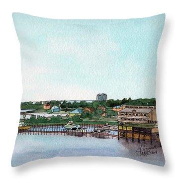 Perdido Key Bay Throw Pillow