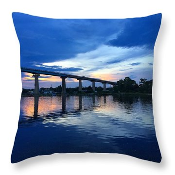 Perdido Key Bridge Throw Pillow