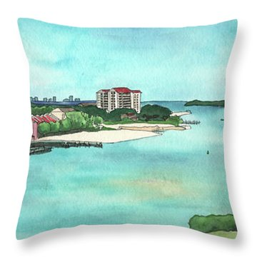 Perdido Key River Throw Pillow