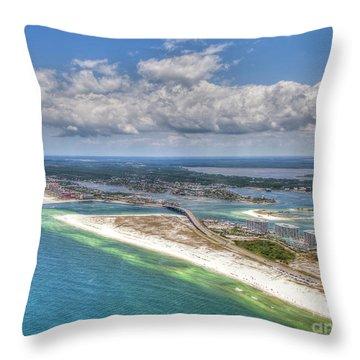 Perdido Pass Aerial 3029 Throw Pillow