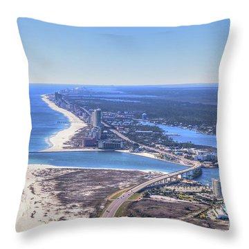 Perdido Pass Bridge 4319 Throw Pillow