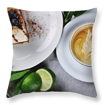 Perfect Breakfast Throw Pillow by Happy Home Artistry
