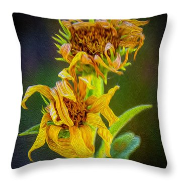 Perfect Curls Duet Throw Pillow