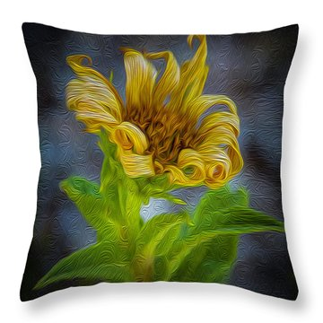Perfect Curls In Gold Throw Pillow