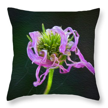 Perfect Curls In Pink Throw Pillow