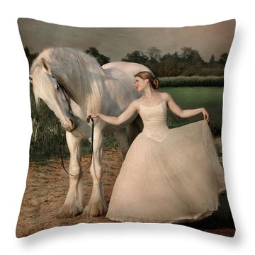 Perfect Dancers Throw Pillow