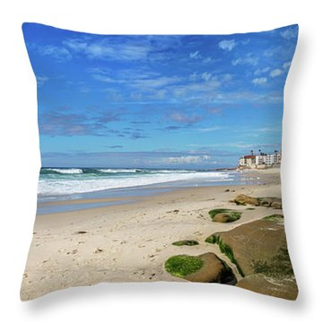 Throw Pillow featuring the photograph Perfect Day At Horseshoe Beach by Peter Tellone