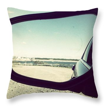Drive By The Sea Throw Pillow