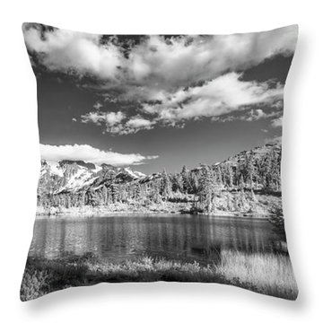 Throw Pillow featuring the photograph Perfect Lake At Mount Baker by Jon Glaser