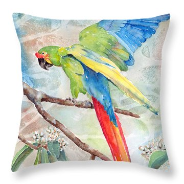 Perfect Landing Throw Pillow by Arline Wagner