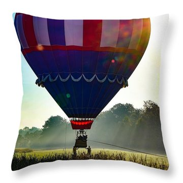 Throw Pillow featuring the photograph Perfect Landing by Kendall McKernon