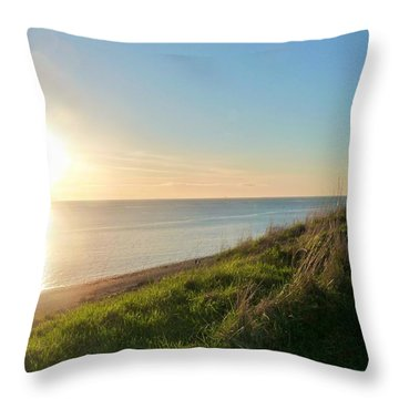 Perfect Light At Ebey's Landing Throw Pillow