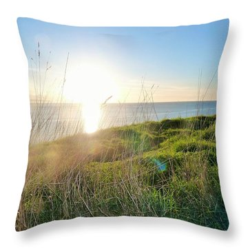 Perfect Light At Ebey's Landing II Throw Pillow