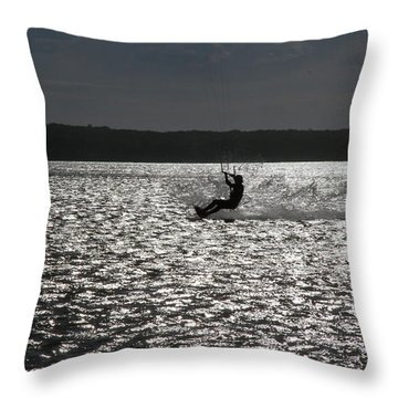 Throw Pillow featuring the photograph Perfect Light At Lake Wollumboola by Miroslava Jurcik
