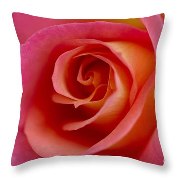 Perfect Moment Rose Throw Pillow