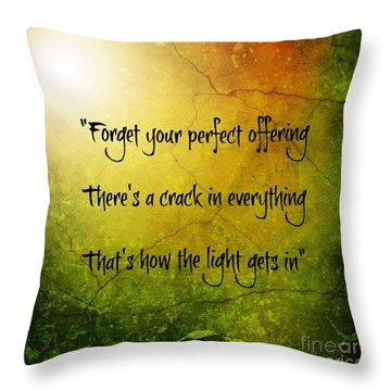 Perfect Offerings Throw Pillow by Leanne Seymour