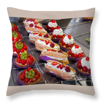 Perfect Pastries Throw Pillow
