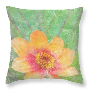 Perfect Peach Throw Pillow by JQ Licensing