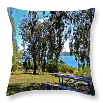 Perfect Picnic Place Throw Pillow