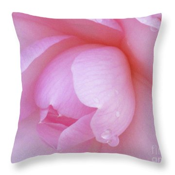 Perfect Pink Throw Pillow by Kim Tran