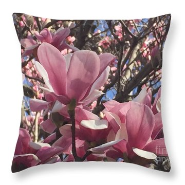 Perfect Pink Petals Throw Pillow