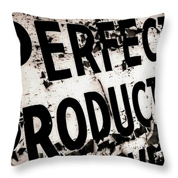 Throw Pillow featuring the photograph Perfect Productions by Gray  Artus
