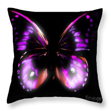 Perfect Purple Butterfly Throw Pillow