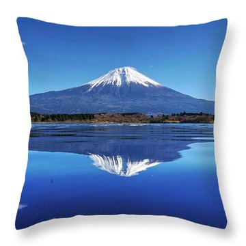 Throw Pillow featuring the photograph Perfect Shape, Perfect Blue by Peter Thoeny