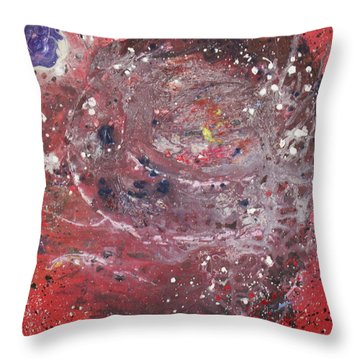 Throw Pillow featuring the painting Perfect Storm by Michael Lucarelli