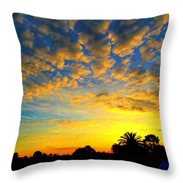 Throw Pillow featuring the digital art Perfect Sunset by Mark Blauhoefer