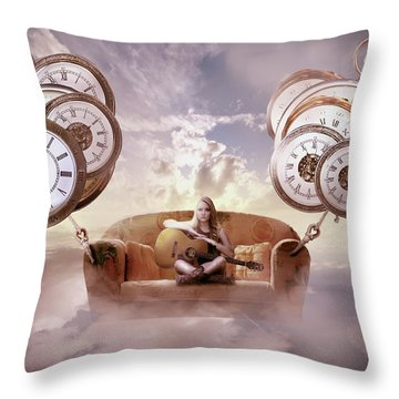 Throw Pillow featuring the digital art Perfect Timing  by Nathan Wright