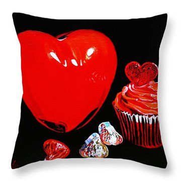 Perfect Valentine Sweets No Calories Throw Pillow