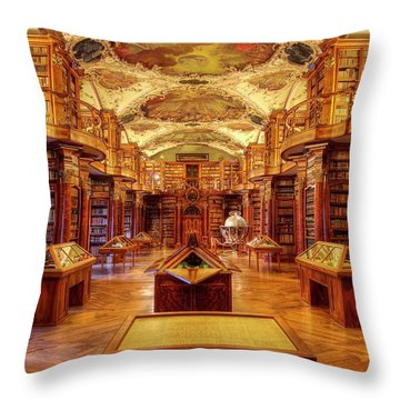 Throw Pillow featuring the photograph Perfection Rococo Style by Peter Thoeny