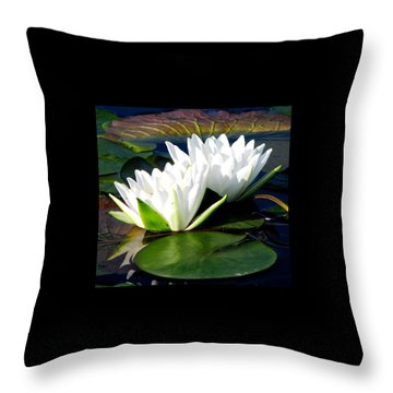 Throw Pillow featuring the photograph Perfection Together by Angela Davies