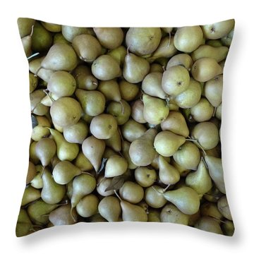 Perfectly Peared Throw Pillow