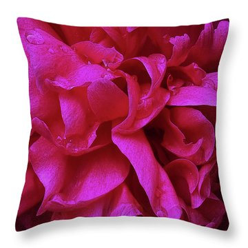 Perfectly Pink Peony Petals Throw Pillow