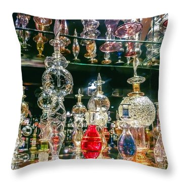 Perfume Bottles  Throw Pillow