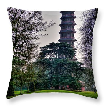 Pergoda Kew Gardens Throw Pillow