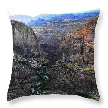 Perilous U.s. Route 88 Throw Pillow by Natalie Ortiz