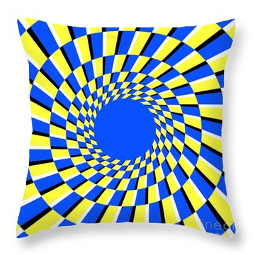 Peripheral Drift Illusion  Throw Pillow by SPL and Photo Researchers