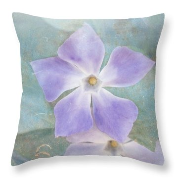 Periwinkle Stars Throw Pillow