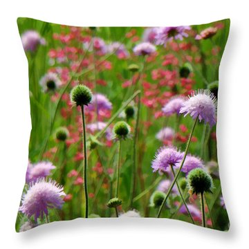 Perky Chives Throw Pillow