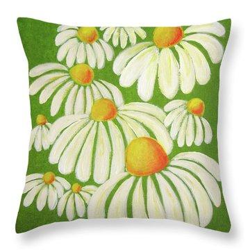 Perky Daisies Throw Pillow by Oiyee At Oystudio
