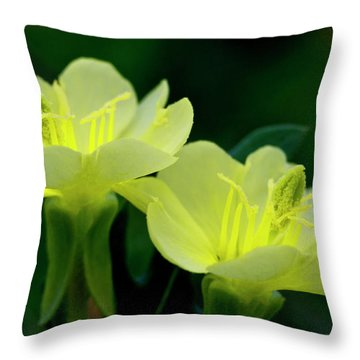 Perky Primroses Throw Pillow
