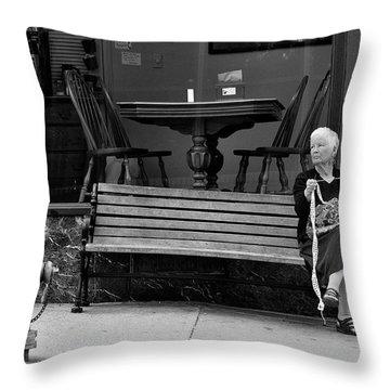 Perl Throw Pillow by Joe Longobardi